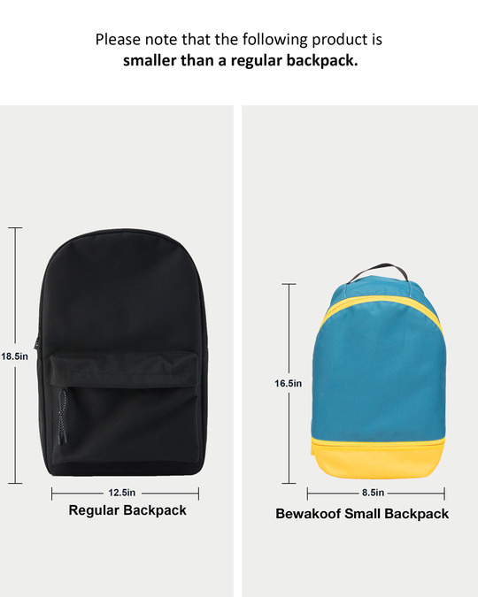 Shop Dodge Blue Plain Small Backpack-Back