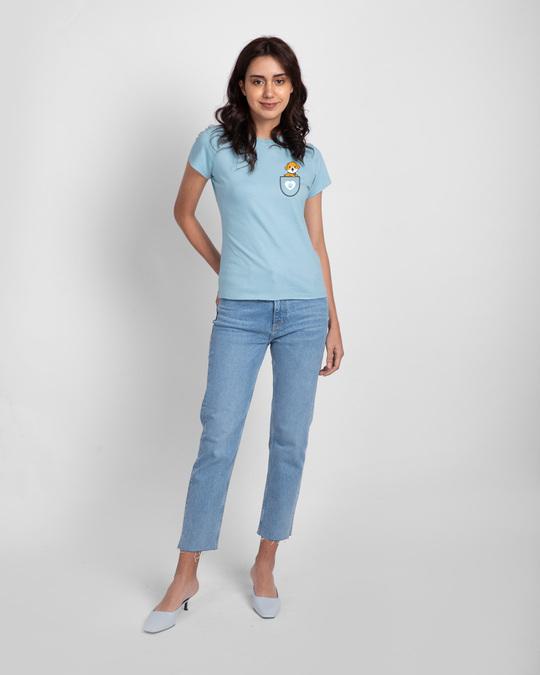 Shop Dog Paw Pocket Half Sleeve T-Shirt-Full