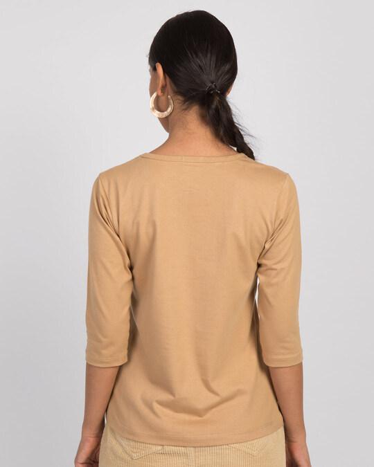 Shop Dog Paw Pocket Round Neck 3/4th Sleeve T-Shirt-Full