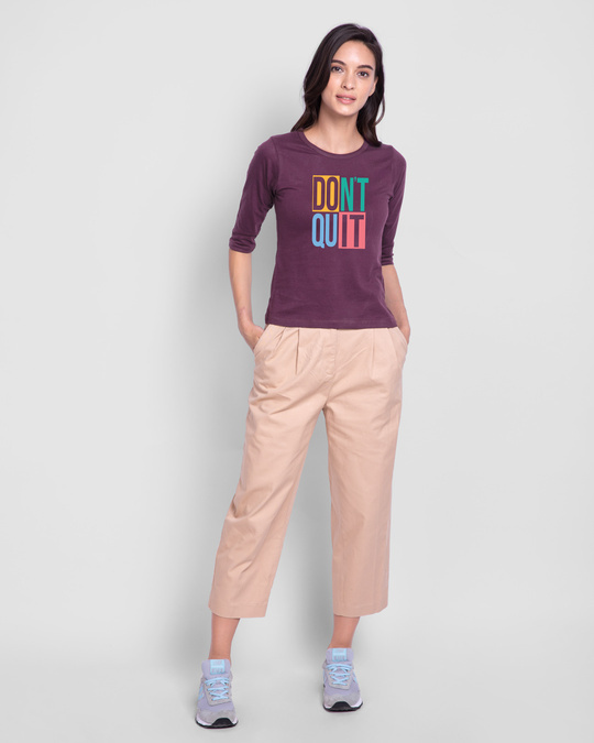 Shop Don't Block Round Neck 3/4th Sleeve T-Shirt-Design