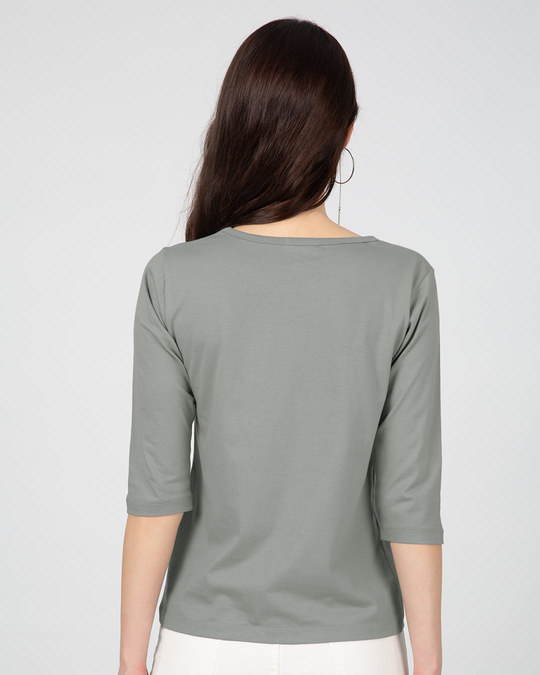 Shop Don't Bug Me Round Neck 3/4th Sleeve T-Shirt-Back