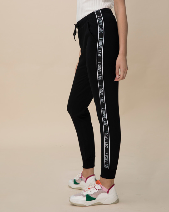 Shop Don't Care Fleece Sports Trim Joggers-Back