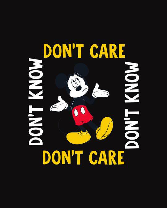 Shop Don't Care Mickey Fleece Sweater (DL) Black-Full