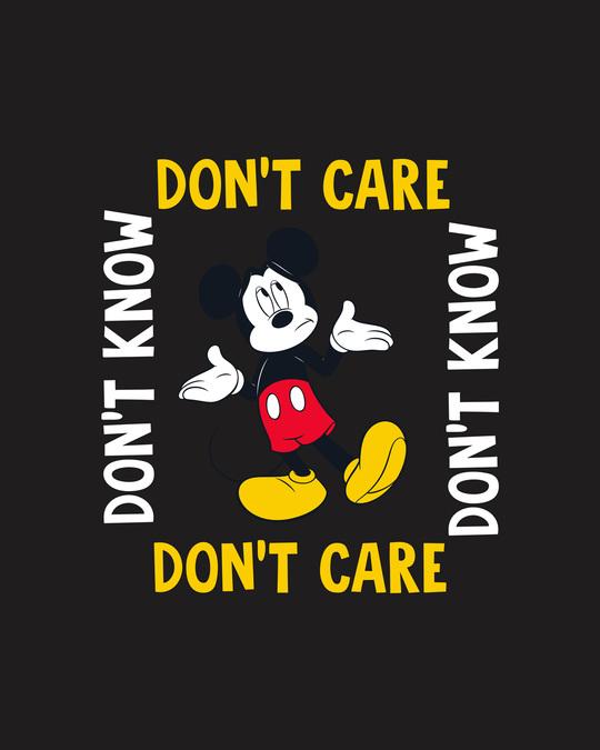 Shop Don't Care Mickey Full Sleeve T-Shirt (DL) Black-Full