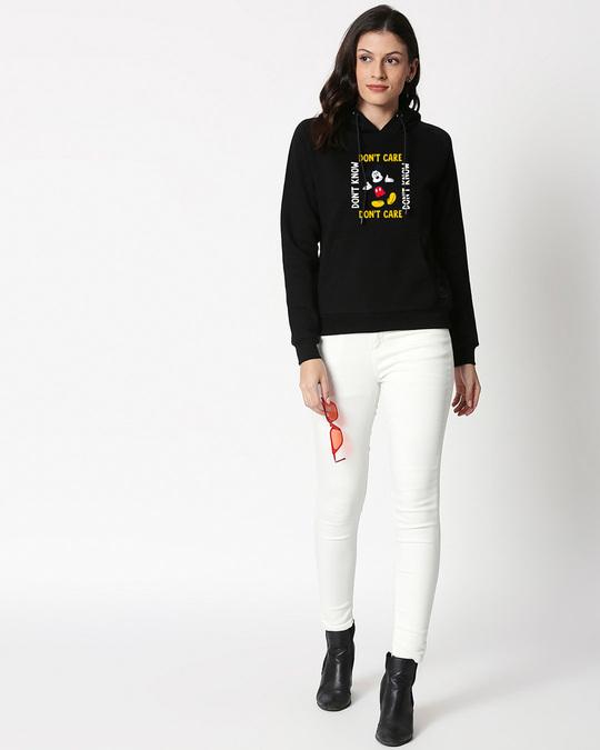 Shop Don't Care Mickey Sweatshirt Hoodie (DL) Black-Design