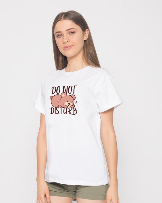 Shop Don't Disturb Boyfriend T-Shirt-Back