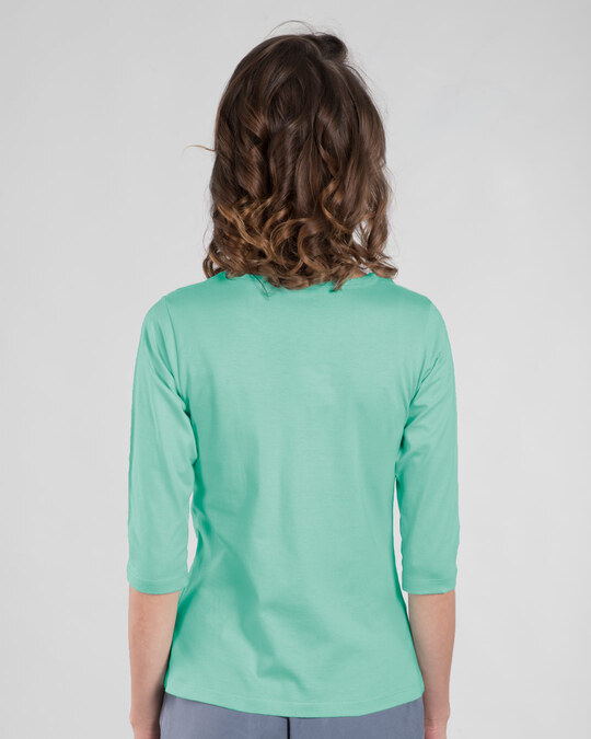 Shop Don't Fluff With Me Round Neck 3/4th Sleeve T-Shirt-Back