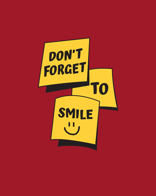 Shop Don't Forget To Smile Boyfriend T-Shirt