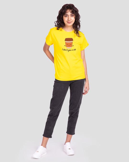 Shop Don't Give A Sip Boyfriend T-Shirt Pineapple Yellow-Design