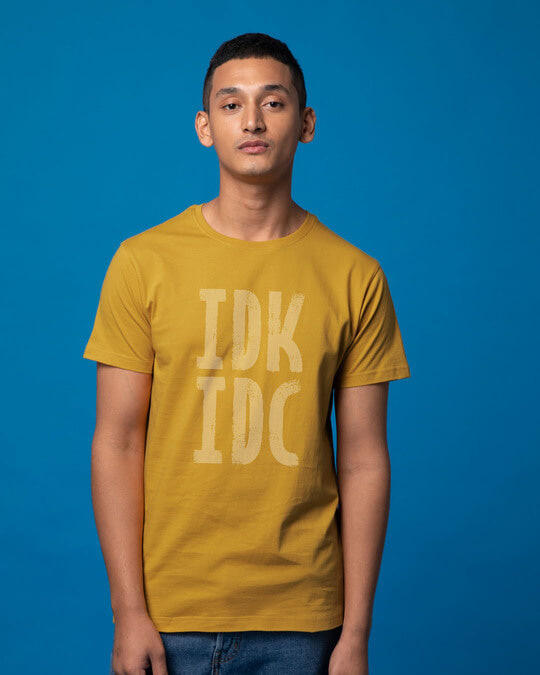 Shop Don't Know Don't Care Half Sleeve T-Shirt-Back