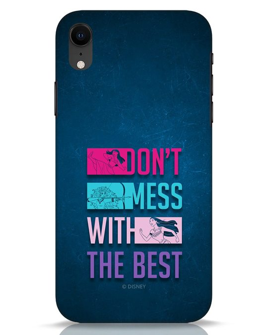 Shop Don't Mess With The Best iPhone XR Mobile Cover (DL)-Front