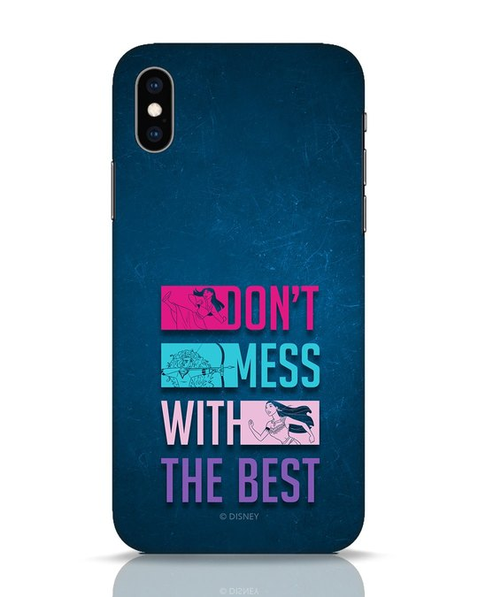 Shop Don't Mess With The Best iPhone XS Mobile Cover (DL)-Front
