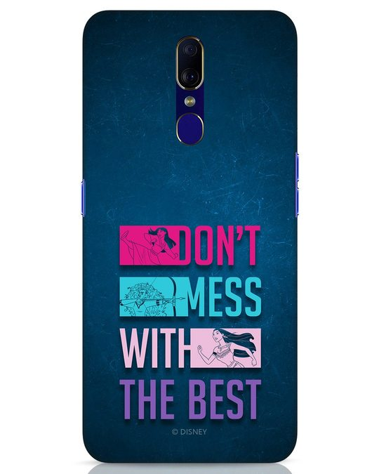 Shop Don't Mess With The Best Oppo F11 Mobile Cover (DL)-Front