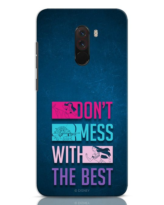 Shop Don't Mess With The Best Xiaomi POCO F1 Mobile Cover (DL)-Front