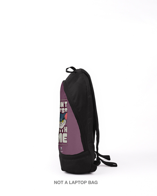 Shop Don't Mess With Tom  Printed Small Backpack (TJL)-Back