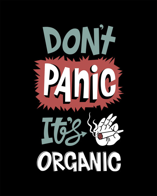 Shop Don't Panic Half Sleeve T-Shirt