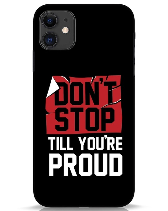 Shop Don't Stop iPhone 11 Mobile Cover-Front