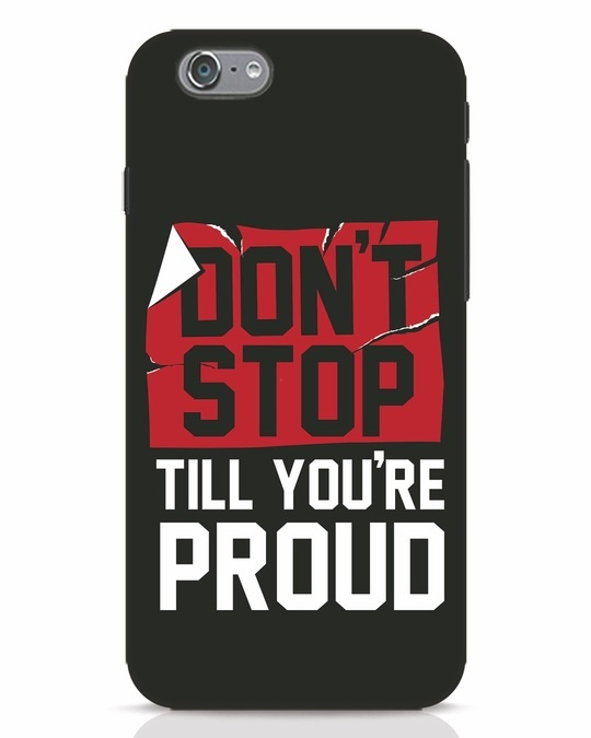 Shop Don't Stop iPhone 6s Mobile Cover-Front