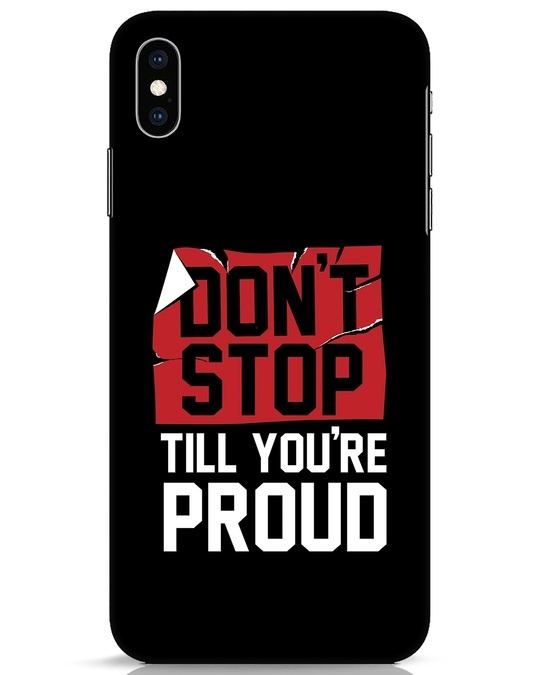 Shop Don't Stop iPhone XS Max Mobile Cover-Front