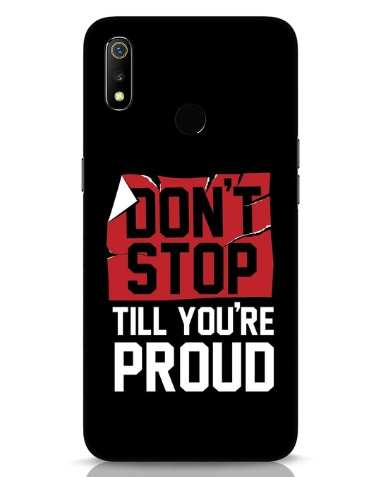 Shop Don't Stop Realme 3 Mobile Cover-Front