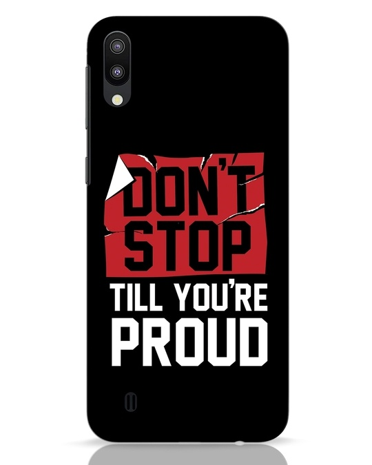 Shop Don't Stop Samsung Galaxy M10 Mobile Cover-Front