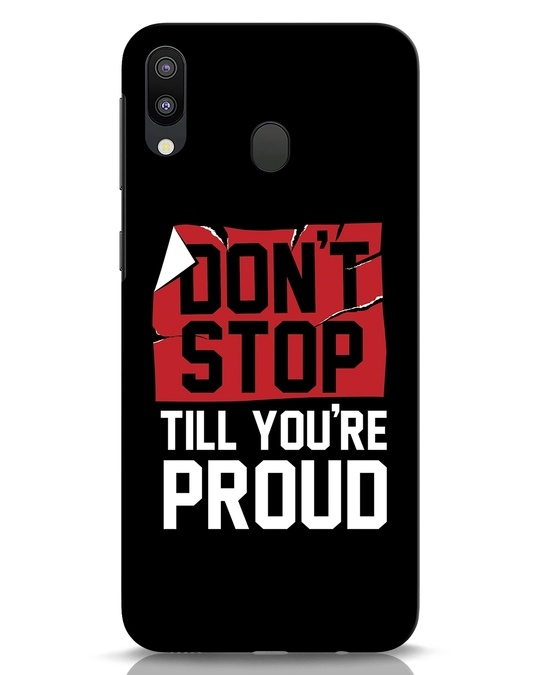 Shop Don't Stop Samsung Galaxy M20 Mobile Cover-Front