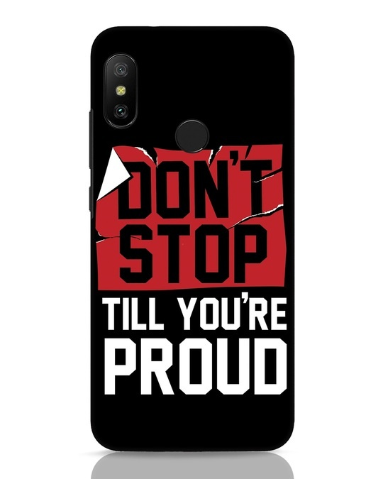 Shop Don't Stop Xiaomi Redmi 6 Pro Mobile Cover-Front