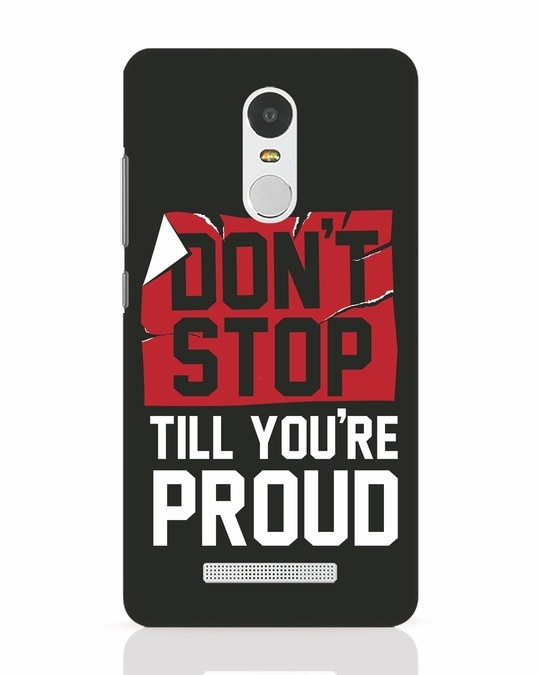 Shop Don't Stop Xiaomi Redmi Note 3 Mobile Cover-Front