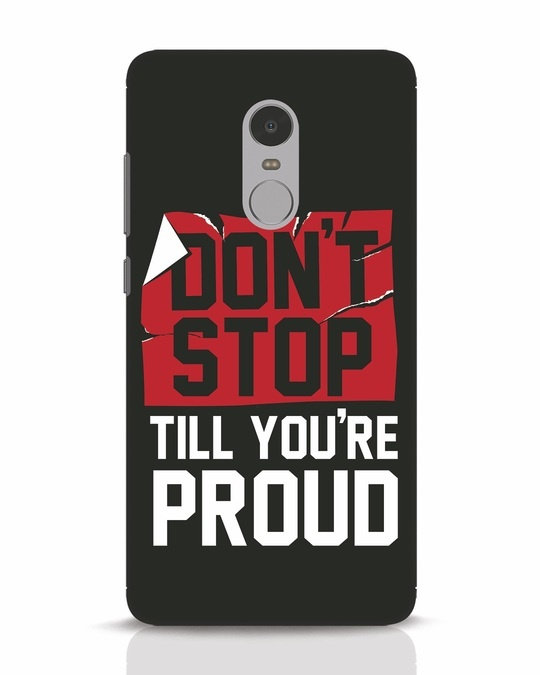 Shop Don't Stop Xiaomi Redmi Note 4 Mobile Cover-Front