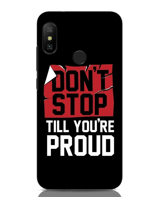 Shop Don't Stop Xiaomi Redmi Note 6 Pro Mobile Cover-Front