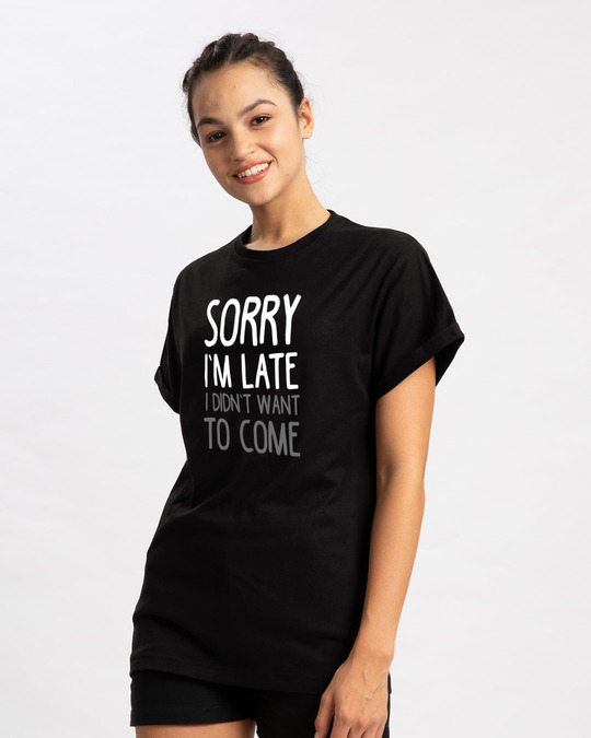 Shop Don't Want To Come Boyfriend T-Shirt-Back
