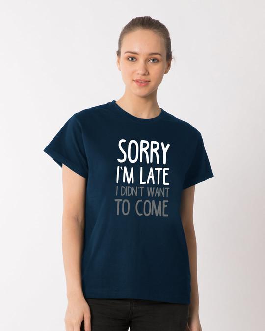Shop Don't Want To Come Boyfriend T-Shirt-Front