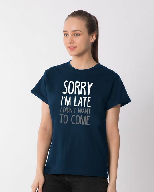 Shop Don't Want To Come Boyfriend T-Shirt-Back