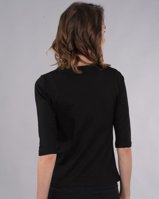 Shop Don'tgiveaflock Round Neck 3/4th Sleeve T-Shirt-Back