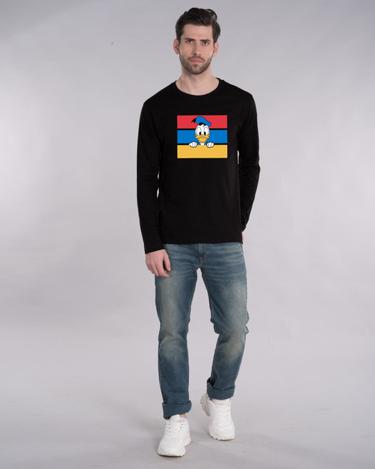 Shop Donald Block Full Sleeve T-Shirt (DL)-Full