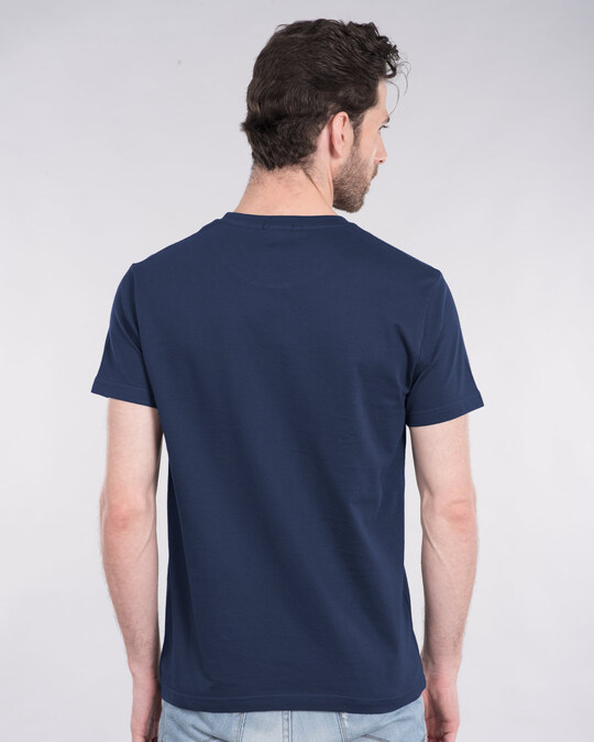Shop Donald Block Half Sleeve T-Shirt (DL)-Back