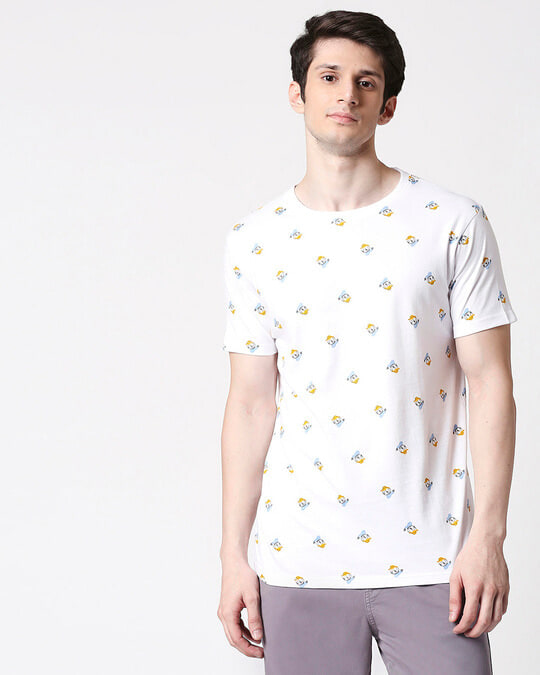 Shop Donald Duck (DL) Half Sleeves AOP T-Shirt-Back