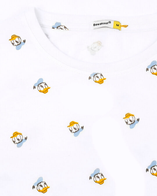 Shop Donald Duck (DL) Half Sleeves AOP T-Shirt