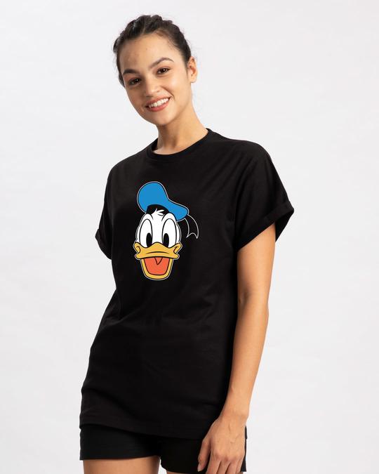 Shop Donald Face Boyfriend T-Shirt (DL)-Back