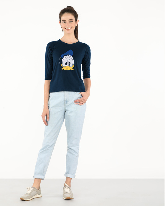 Shop Donald Round Neck 3/4th Sleeve T-Shirt (DL)-Full