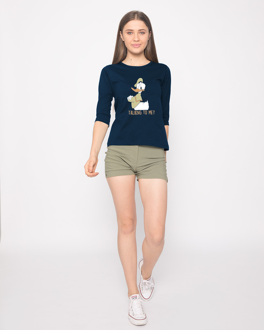 Shop Donald Talking To Me Round Neck 3/4th Sleeve T-Shirt (DL)