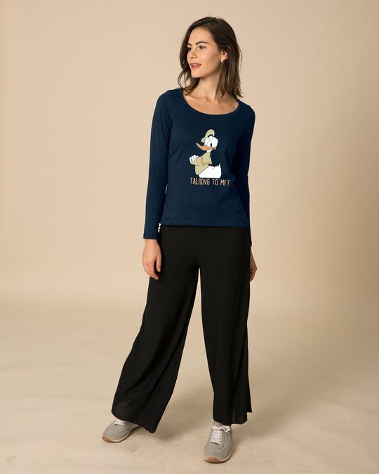 Shop Donald Talking To Me Scoop Neck Full Sleeve T-Shirt (DL)-Full
