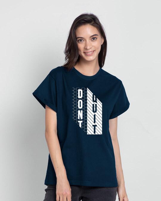 Shop Dont Quit Mesh Boyfriend T-Shirt-Front