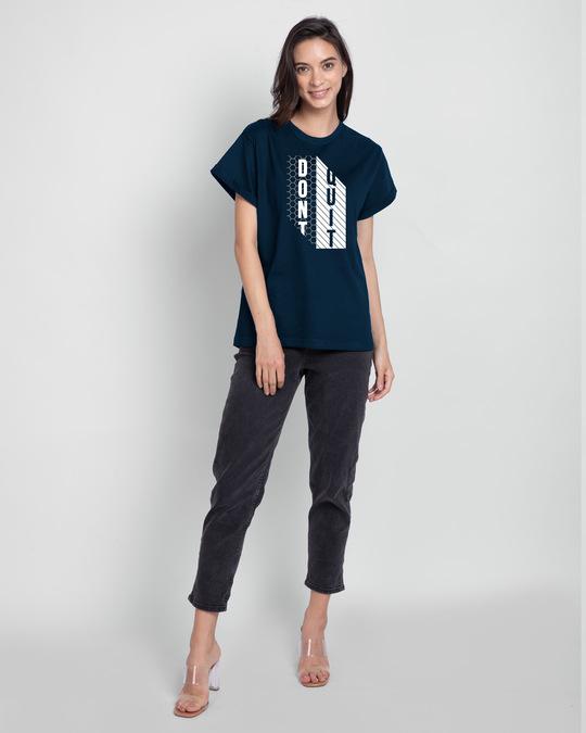 Shop Dont Quit Mesh Boyfriend T-Shirt-Design