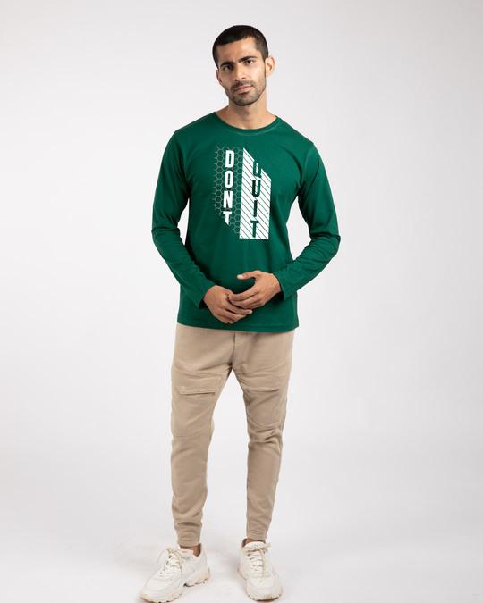 Shop Dont Quit Mesh Full Sleeve T-Shirt-Design