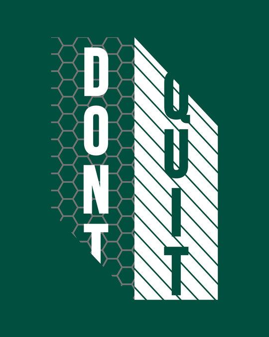Shop Dont Quit Mesh Full Sleeve T-Shirt-Full
