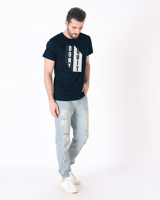 Shop Dont Quit Mesh Half Sleeve T-Shirt-Design