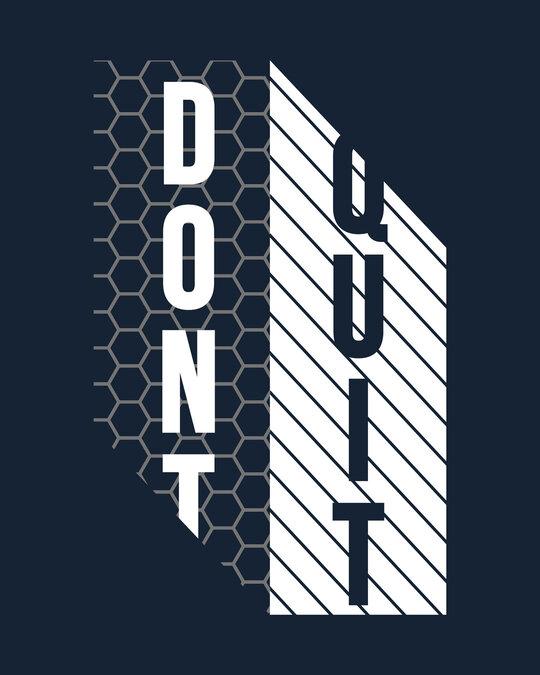Shop Dont Quit Mesh Half Sleeve T-Shirt-Full