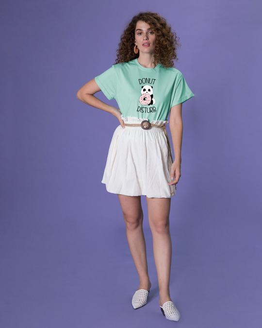 Shop Donut Disturb Panda Boyfriend T-Shirt-Full