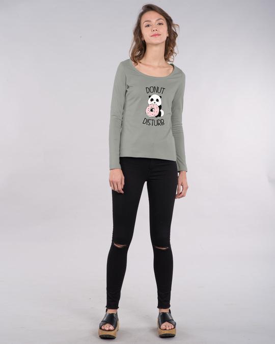 Shop Donut Disturb Panda Scoop Neck Full Sleeve T-Shirt-Design